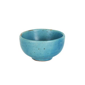 Sm Blue Speckled  Pinch Bowl