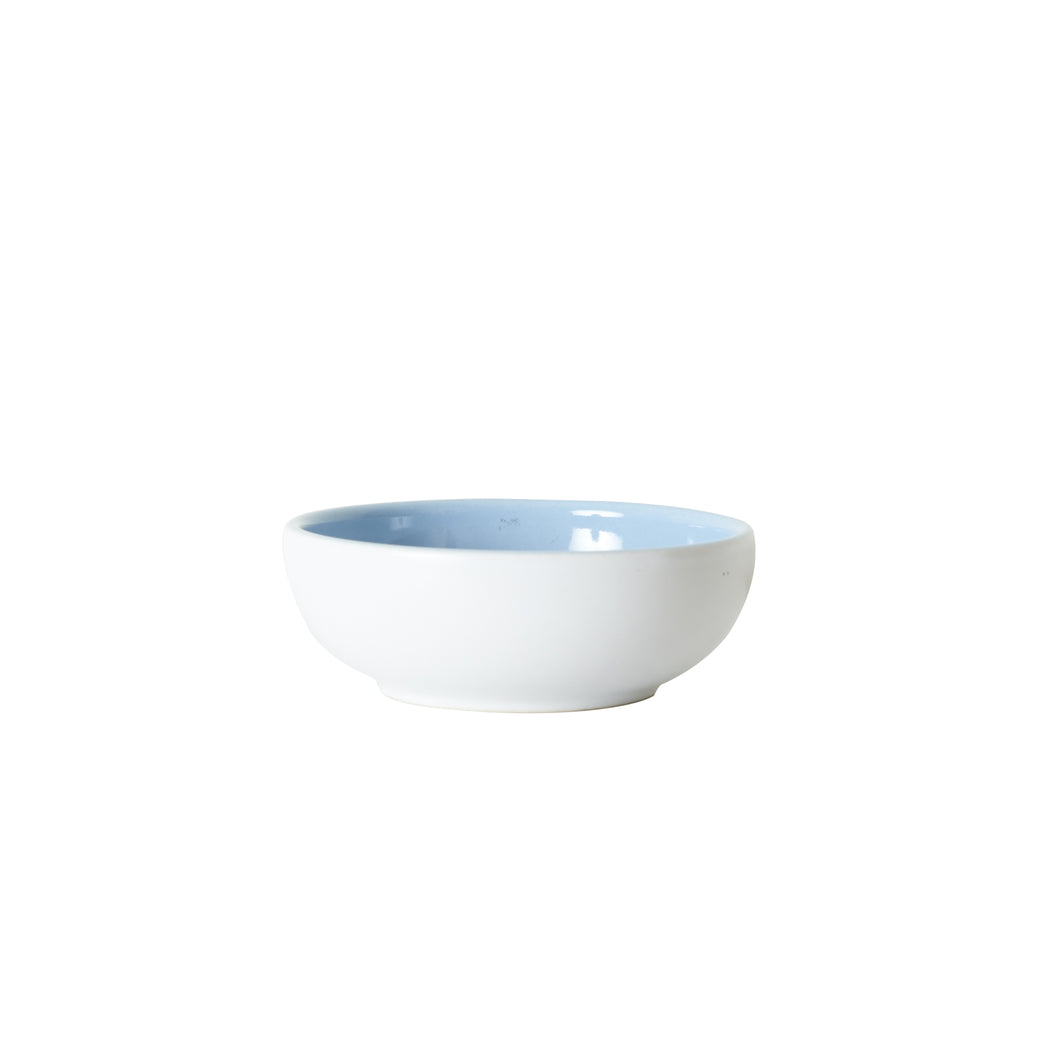 Sm Periwinkle Blue Bowl With White Exterior
