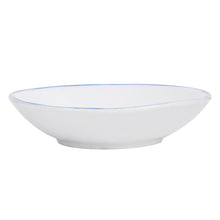 Sm Shallow White Dish With Asian Blue Fish Design