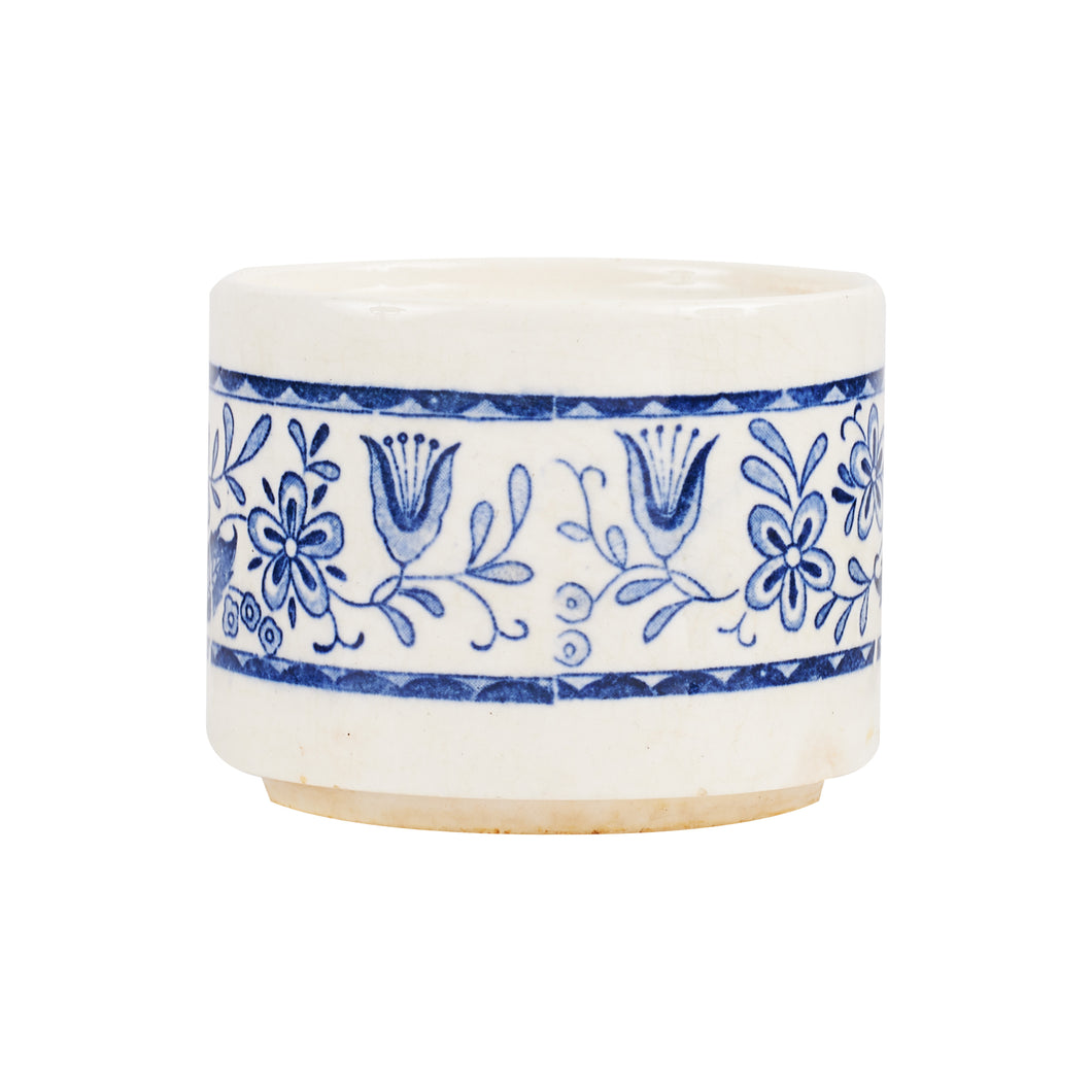 Sm Cream Bowl With Blue Design