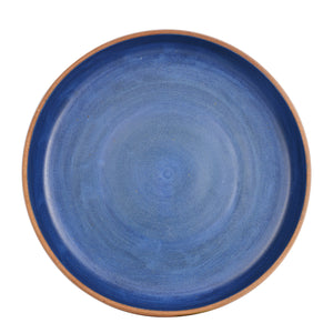 Md Blue Bowl With Brown Exterior