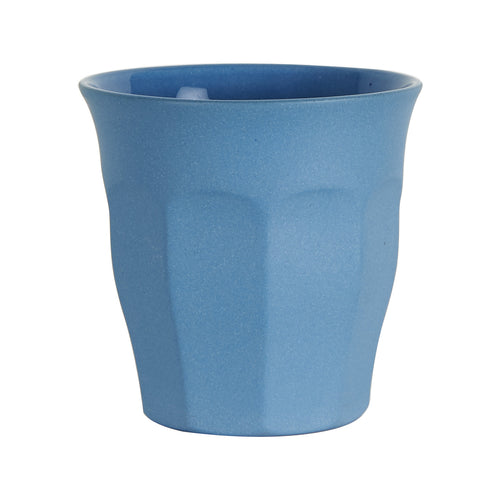 Sm Blue Cup With Matte Exterior