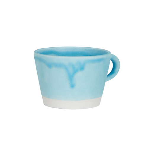 Light Blue Matte Tea Cup