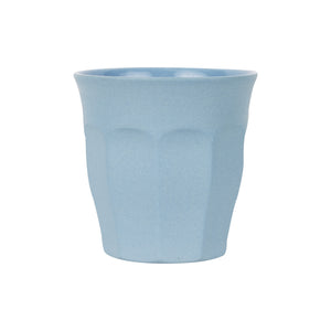 Sm Pale Blue Cup With Matte Exterior