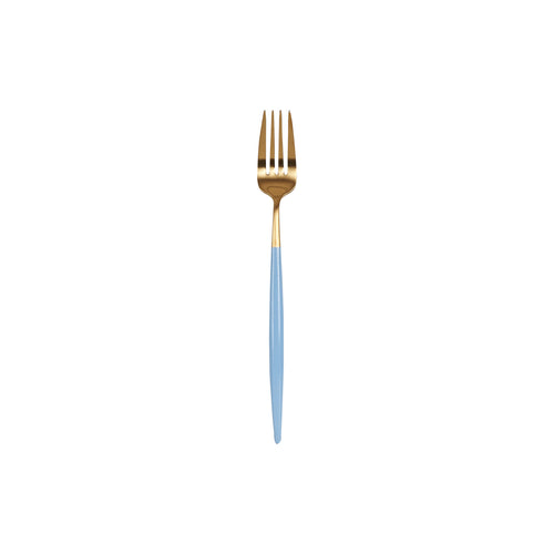 Light Blue And Gold Fork