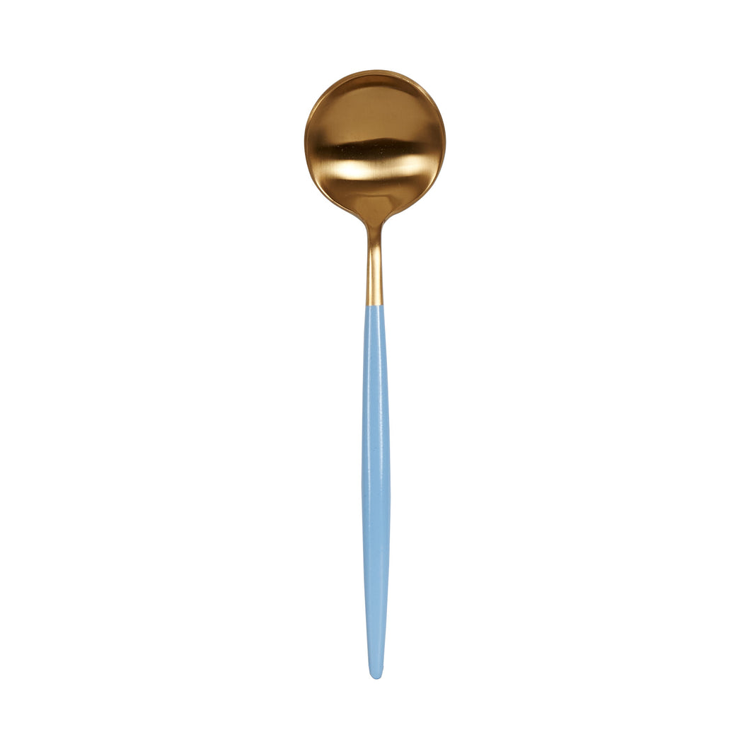 Light Blue And Gold Spoon