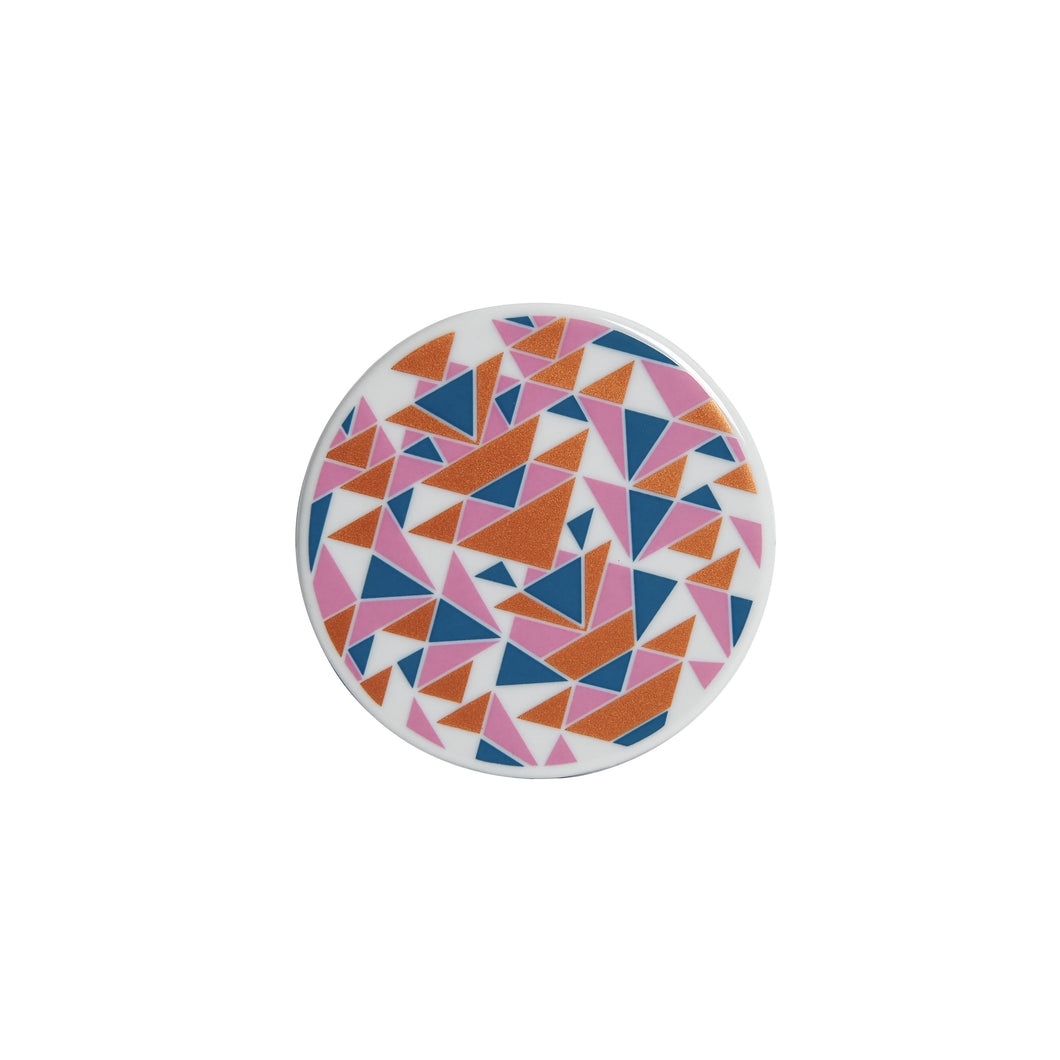 Blue and Pink Geometric Coaster