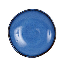 Sm Blue Dish With Dark Rim