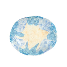 Md Oval Blue Pattern Plate