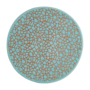Blue Trivet with Gold Design