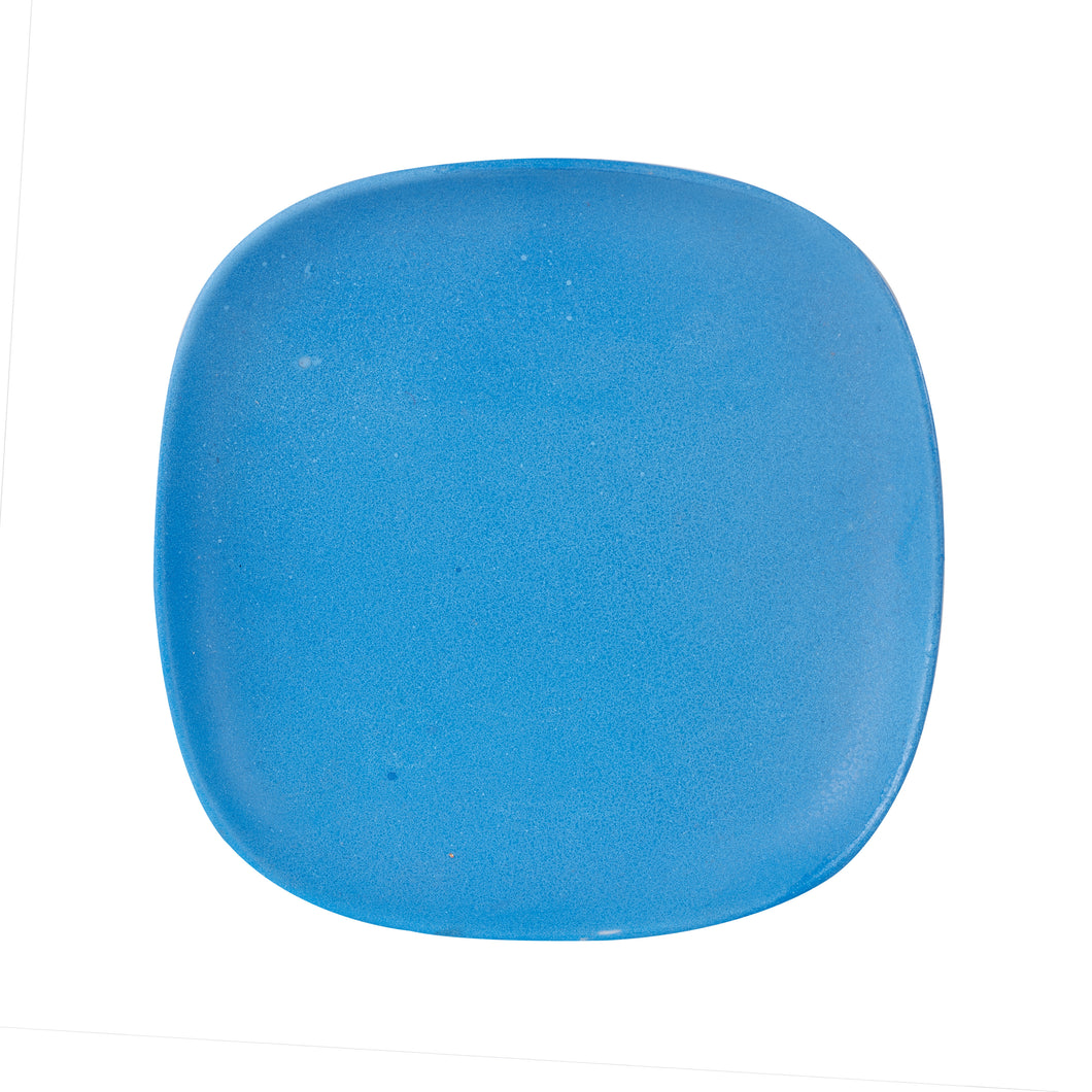 Md Square Matte Blue Plate