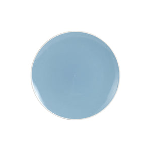 Md Light Blue Plate With White Rim