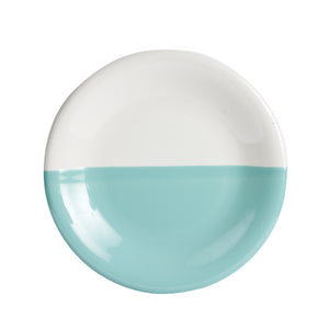 Lg Teal And White Plate
