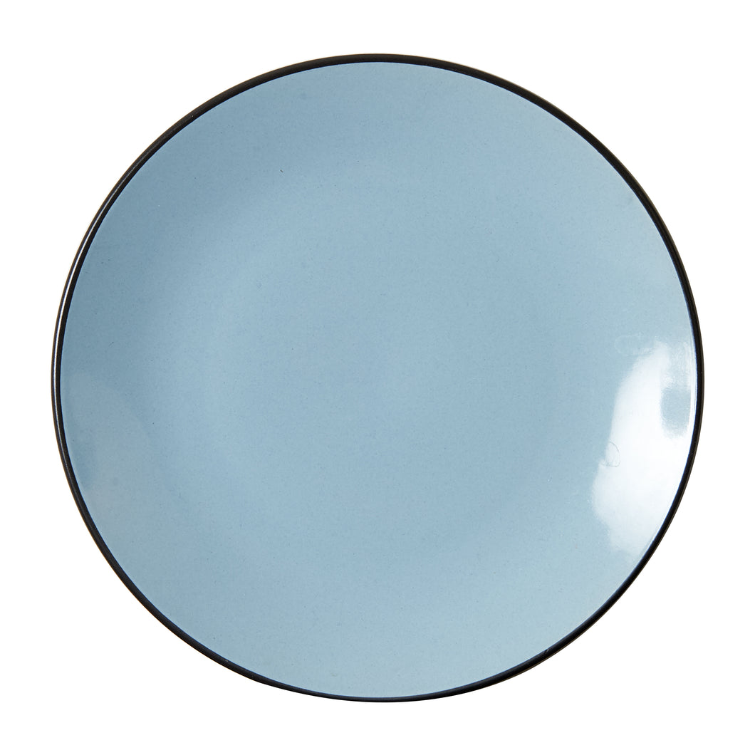 Light Blue Plate With Dark Bottom