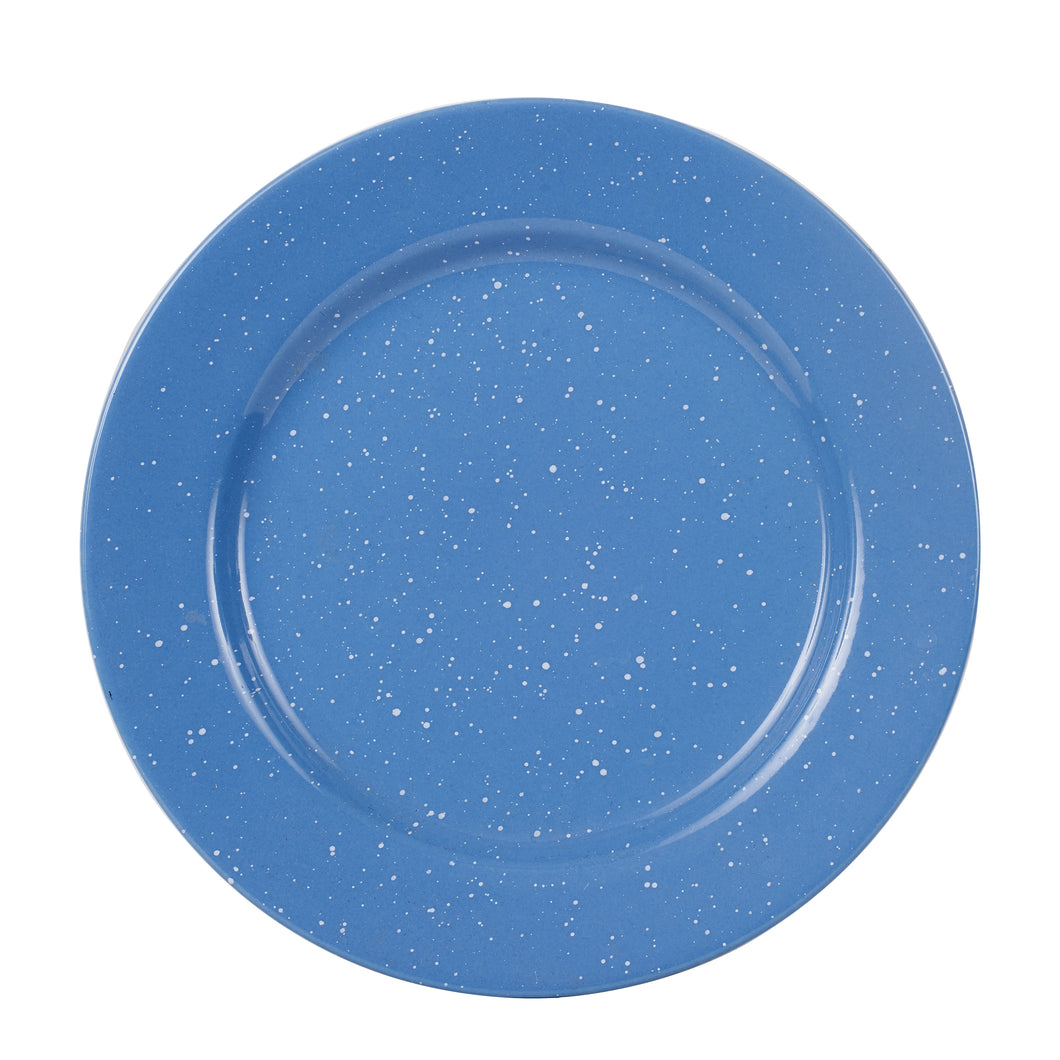 Lg Blue Plate With White Speckles