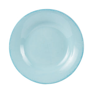 Md Light Blue Plate With Blue Rim