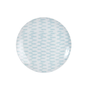 Lg White Plate With Blue Pattern