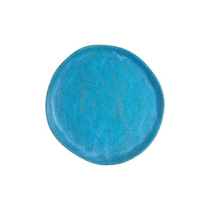 Blue Speckled Plate With Brown Bottom
