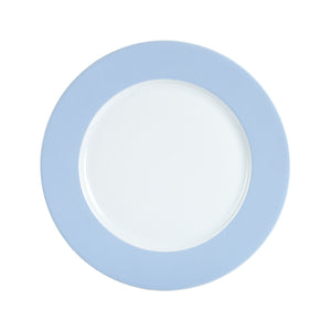 Lg Light Blue Rimmed Plate