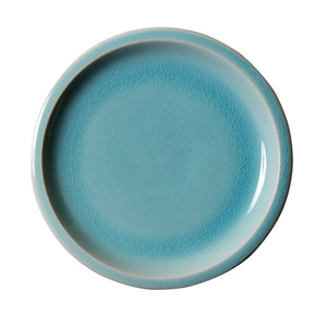 Md Light Blue And White Plate With Cracking Design