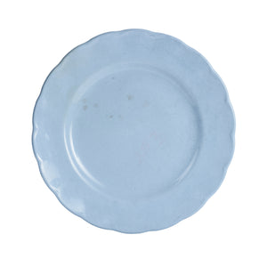 Lg Pale Blue Plate With Wavy Edges