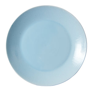 Light Blue Plate With Pleated Rim