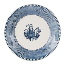 White Plate With Blue Vintage Designs