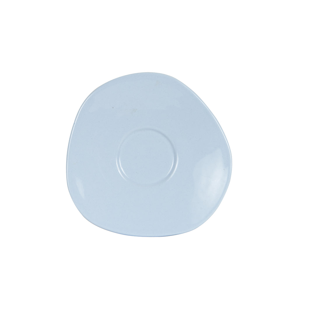 Md Light Blue Tea Cup Saucer