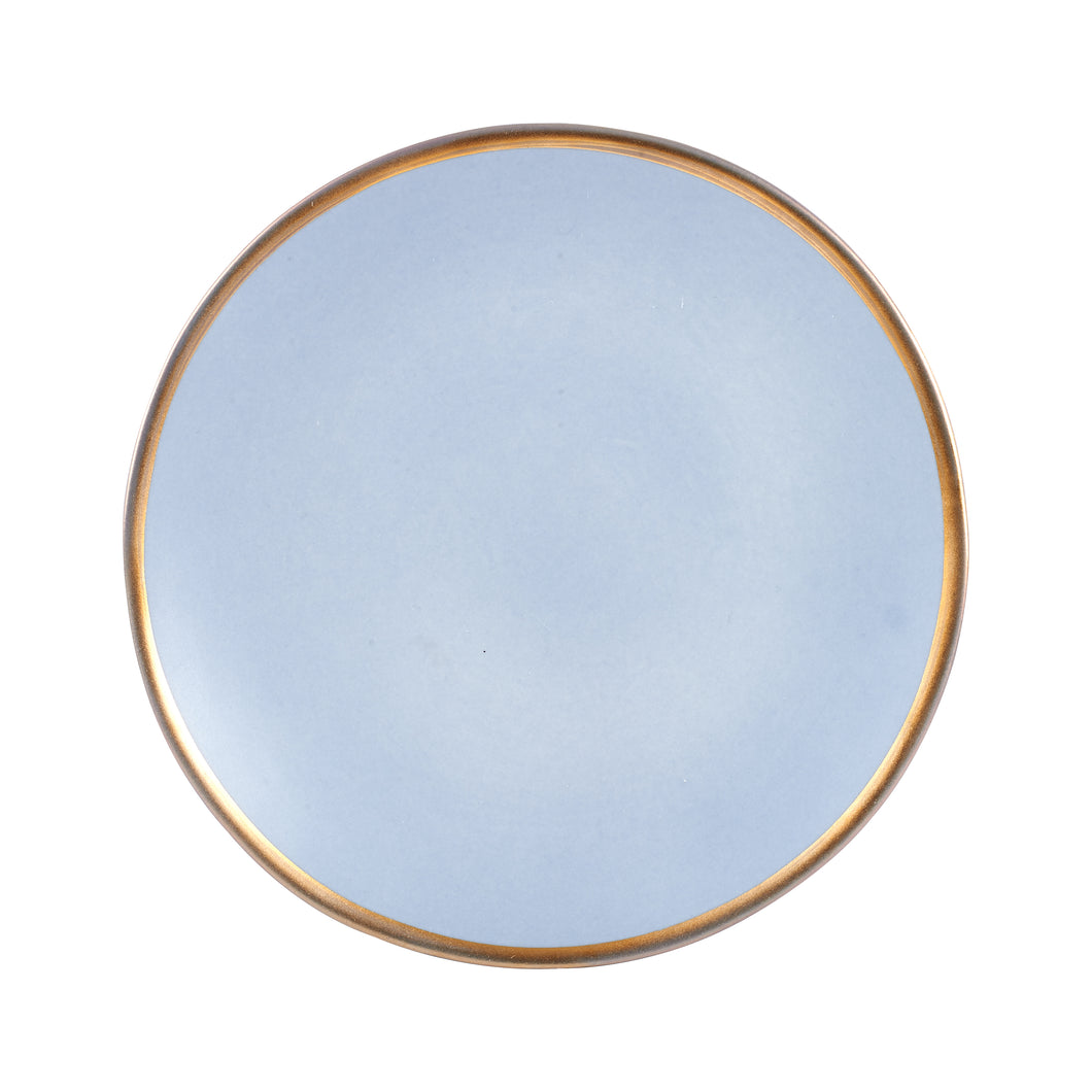 Pale Blue Plate With Gold Edges