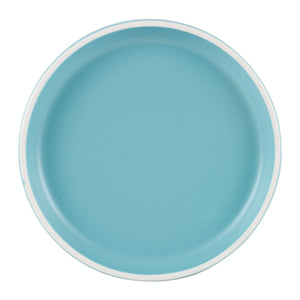 Lg Light Blue And White Plate