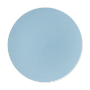 Md Pale Blue Plate With White Rim
