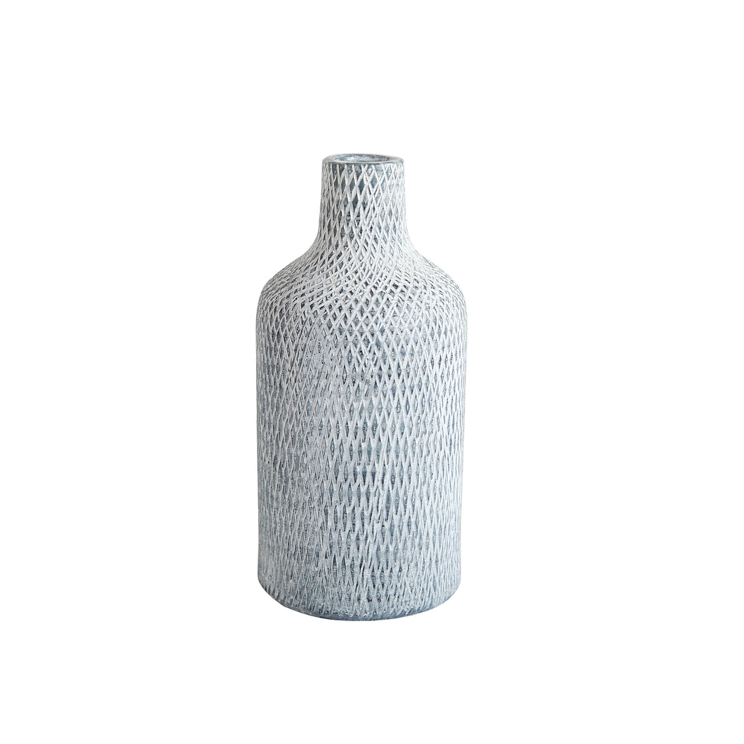 Md Small Mouth Blue and White Vase