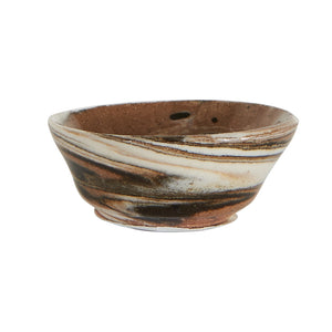 Sm Multi-Tone Light Brown Pinch Bowl