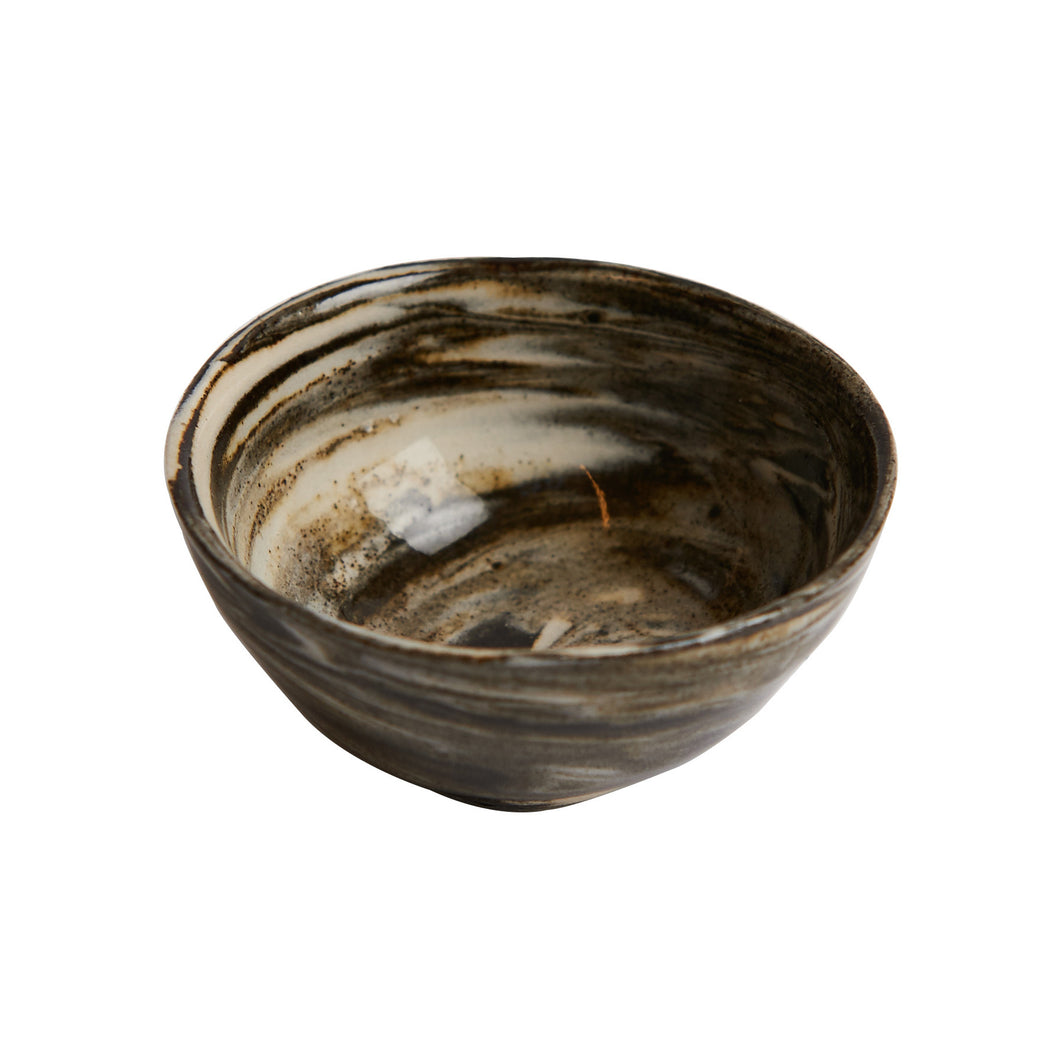 Sm Multi-Toned Brown Pinch Bowl