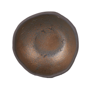 Brown Bowl With Bronze Design