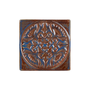 Brown And Blue Ceramic Coaster