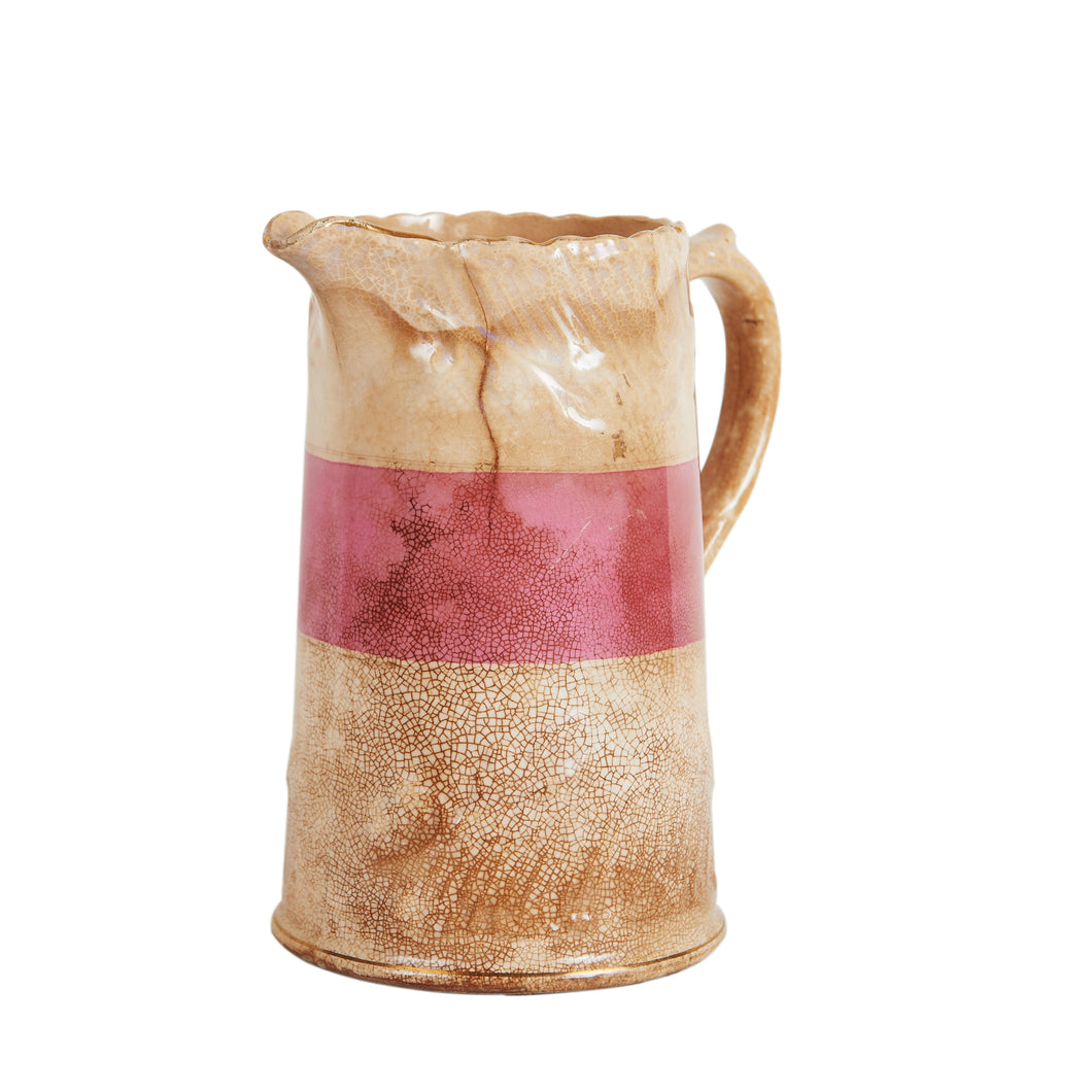 Md Vintage Cream Jug With Red Strip