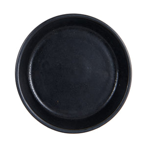Sm Shallow Black Bowl