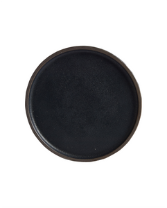 Black Shallow Ceramic Plate