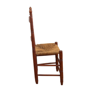 Brown Chair With Weaved Mesh Seat