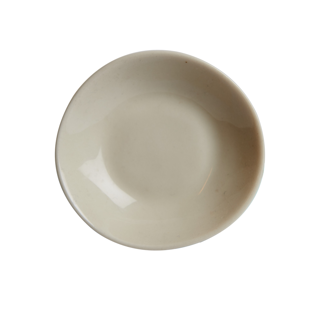 Sm Cream Irregular Bowl