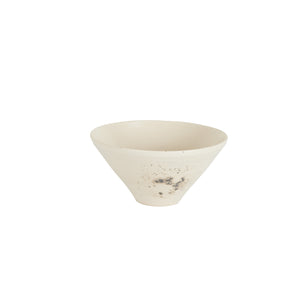 Sm Cream Bowl with Black Splatter Pattern