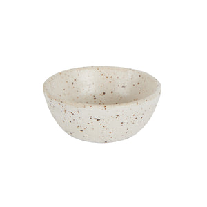 Sm Cream Speckled Pinch Bowl