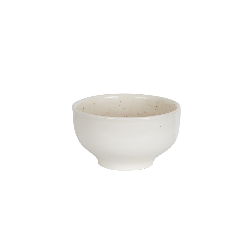 Md Cream Bowl With Speckles On The Inside