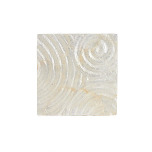 Cream Pearl Square Coaster