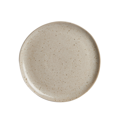 M Beige Speckled Plate