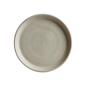 Sm Cream Colored Rimmed Plate
