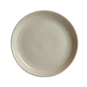 M Cream Colored Shallow Rimmed Dish