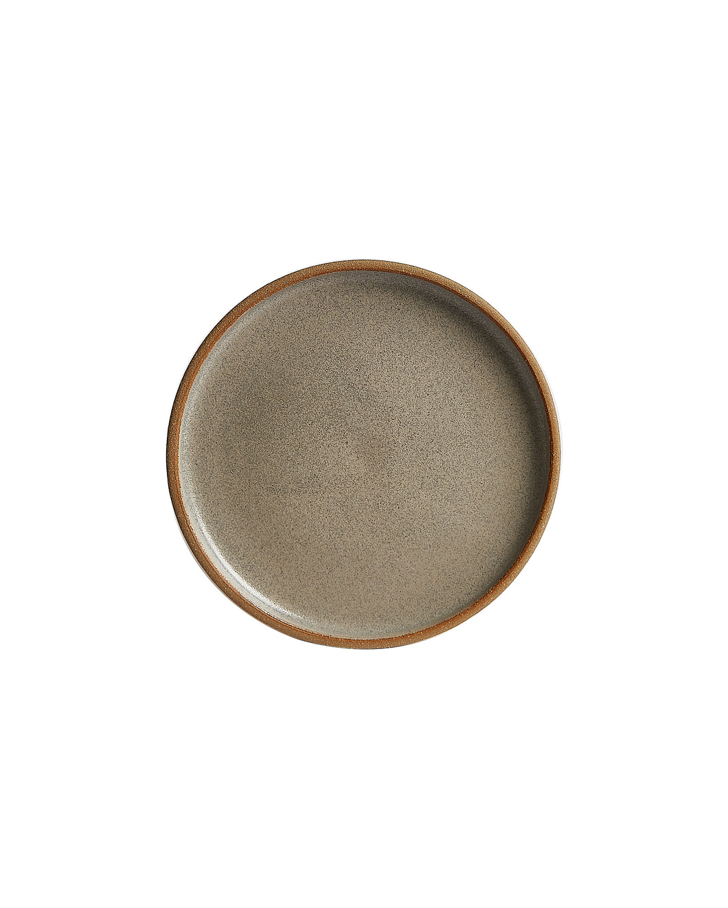 Cream Plate With Lightly Burnt Orange Edges