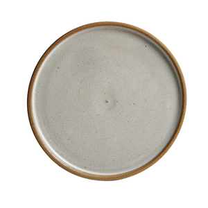 Cream Colored Plate, Earthenware Edge